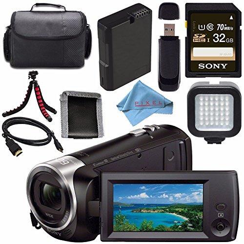 sony hdr-cx440 hdr-cx440/b hd handycam with 8gb internal mem