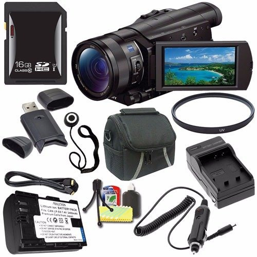 sony hdr-cx900 full hd handycam camcorder (black) + np-fv70