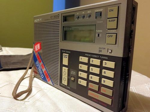 sony icf 7600d radio multibanda - con accesorios