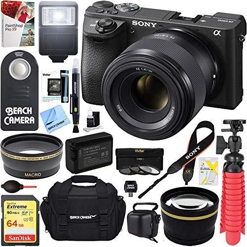 sony ilce-6500 a6500 cuerpo de cámara sin espejo 4k + lente