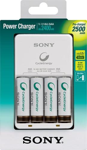 sony kit cargador de batería de nimh bcg34hh4gn