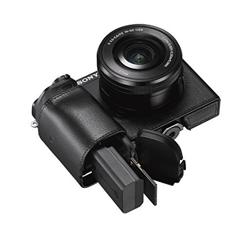 sony lcsebe/b cuerpo fit solo caso para a6000 cámara
