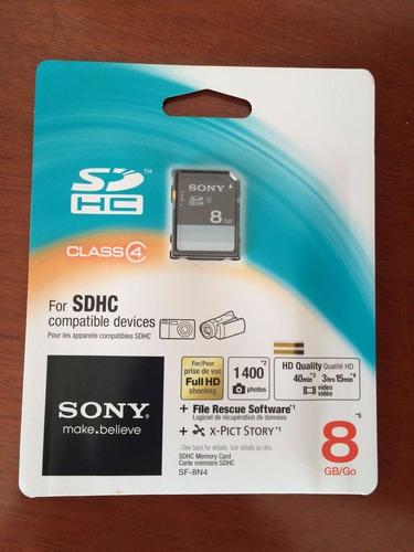sony memory card sdhc (class 4) - 8bg (lacrado)