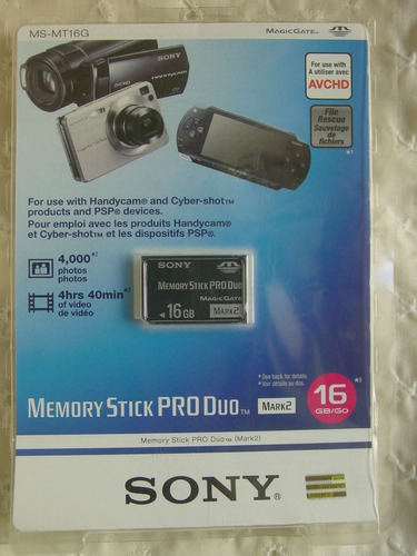 sony memory stick pro duo 16gb ms-mt16g