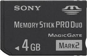 sony memory styck pro duo de 4 gb