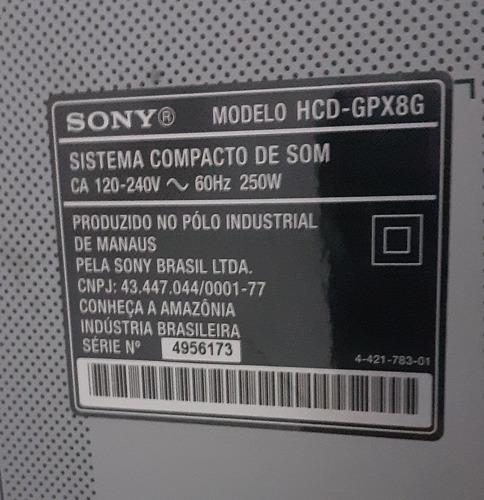 sony mhc - gpx8/1600