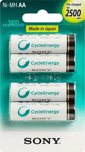 sony - nh-aa-b4gn - baterías recargables de alta calidad aa