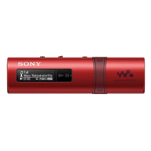 sony nwz-b183f/bc reproductor de mp3 sony negro red