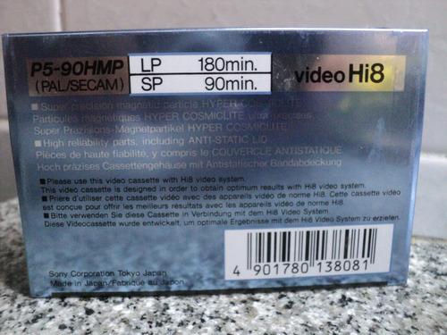 sony p5-90 mp hi8-metal p video cassette pal/secam japan