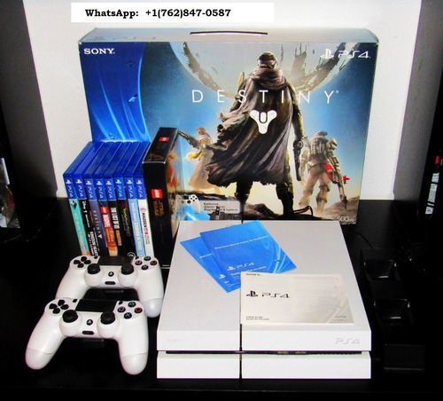 sony playstation 4 - 500 gb - glacier white - includes desti