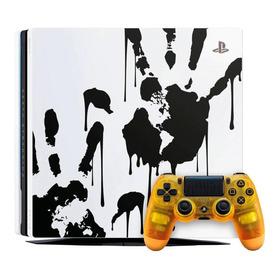 Sony Playstation 4 Pro 1tb Death Stranding Limited Edition Branco/preto