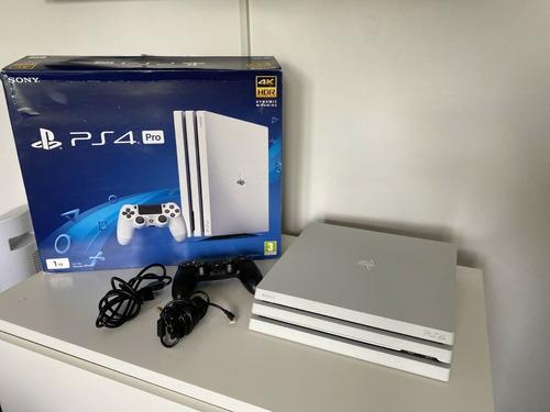 sony playstation 4 ps4 pro white + 8 juegos gratis