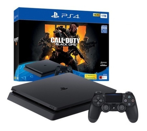 sony playstation 4 ps4 slim 1 tb + black ops 4 - prophone