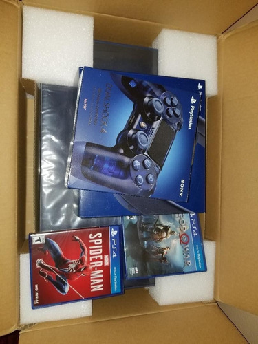 sony ps4 pro 2tb spider-man and god of war