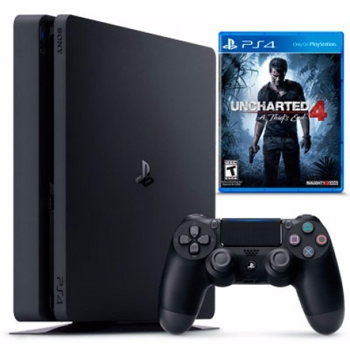sony ps4 slim playstation 4 uncharted 4 500gb control juego