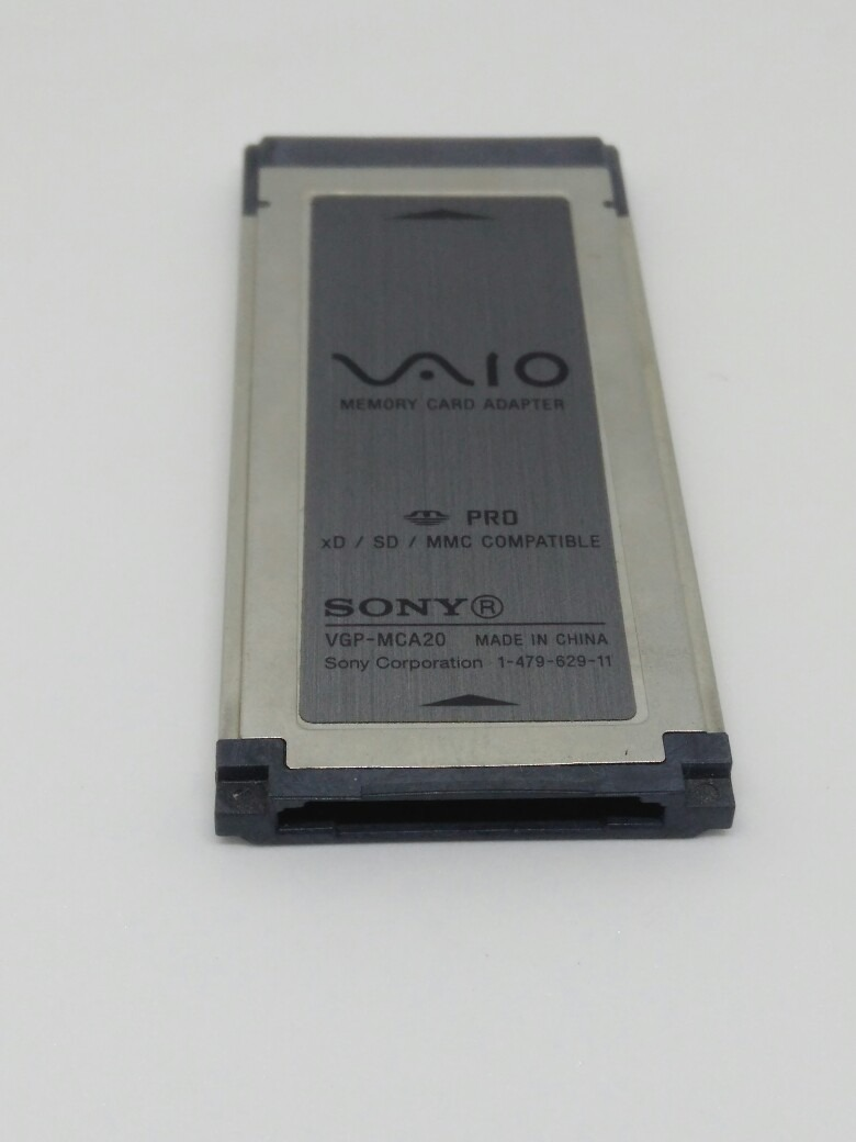 Sony vaio memory card adapter vgp-mca20 driver download.