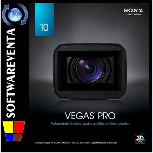sony vegas pro 10- garantizado 32/64 bits para editar videos