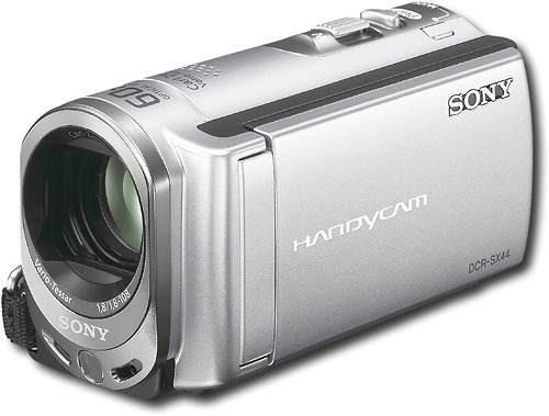 sony - videocámara con monitor lcd de 2.7  - plateado