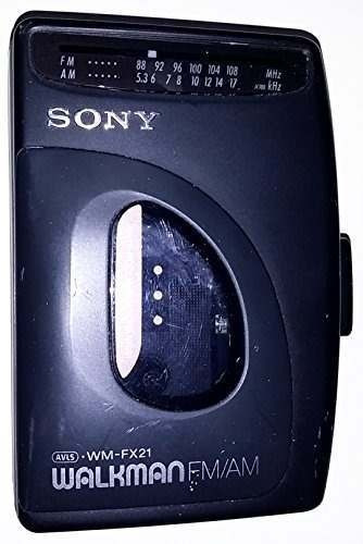 sony walkman cassette modelo de radio am fm wm-fx21cro2met