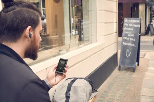 sony walkman nw-a45/b con audio de alta resolución, grisá
