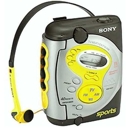 sony walkman® sports cassette player