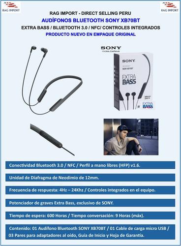 sony xb70bt audífonos bluetooth xz2 xz premium nuevo origina