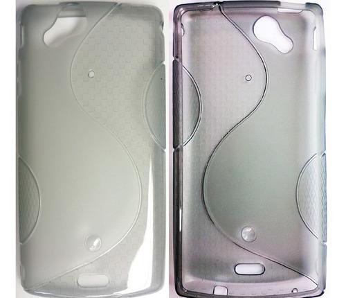 sony xperia arc s lt15i lt18i forro tpu + lamina protectora
