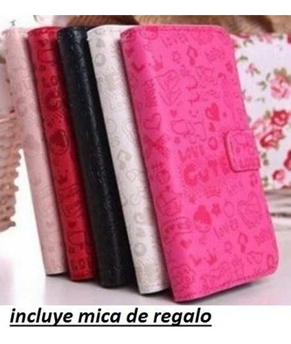 sony xperia e c1504 cartera fashion cute + mica + promo!