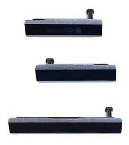 sony xperia z1 tapas puertos sim micro sd carga usb negras