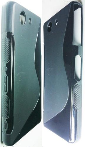sony xperia z3 mini forro tpu + lamina prot. z3 compact