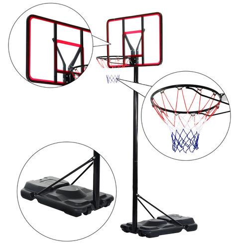 soozier 12 pies baloncesto base de tablero con ruedas aro