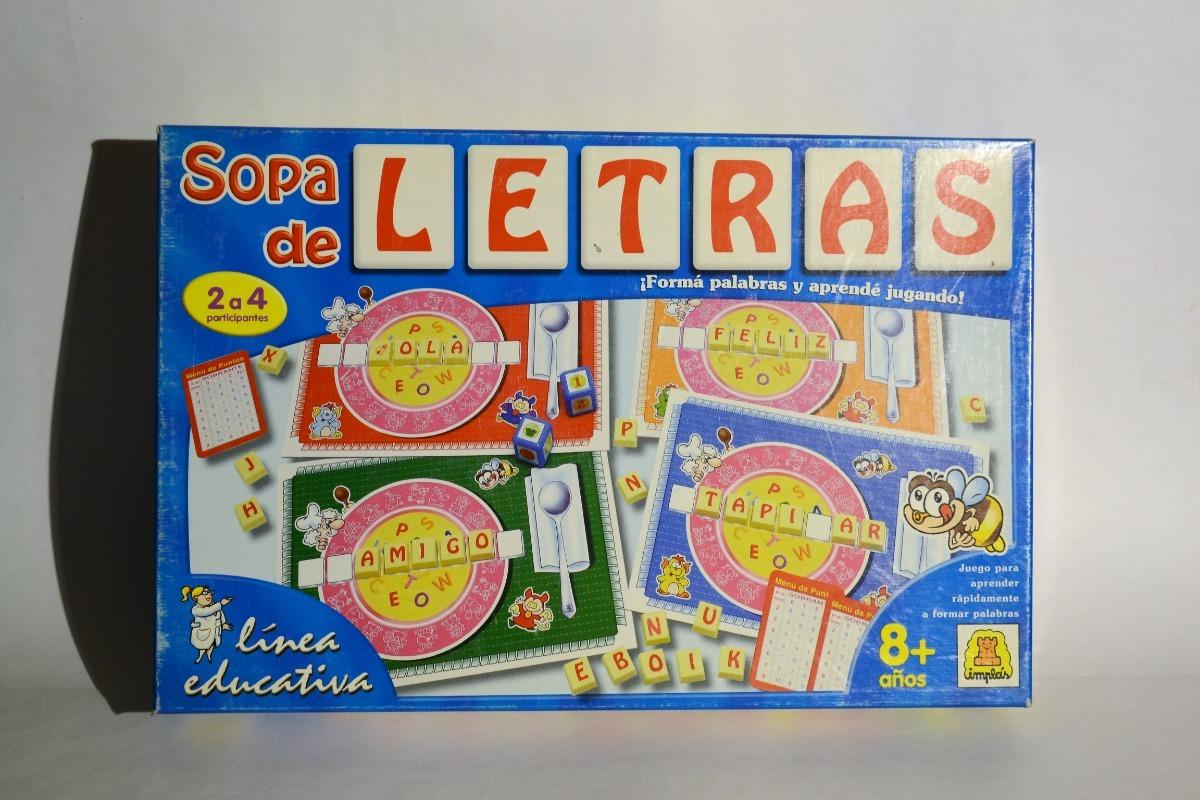 Sopa De Letras Implas Juego De Mesa 290 00 En Mercado Libre