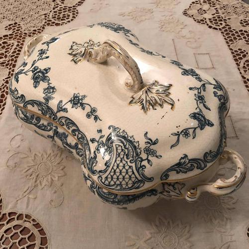 sopera porcelana inglesa burslem clarence sellada