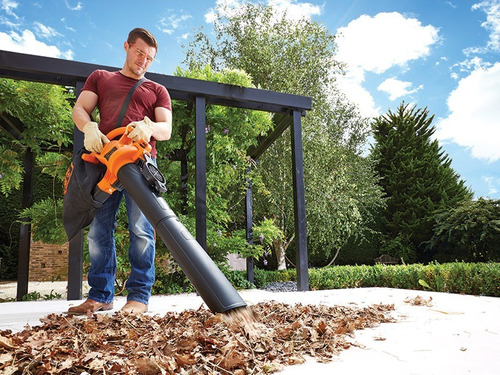 soplador aspiradora trituradora black decker 2500w jardin