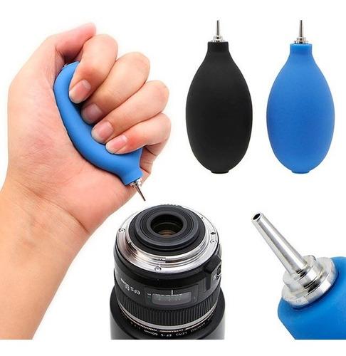 soplador de aire para limpieza de cámara y lente fotográfico