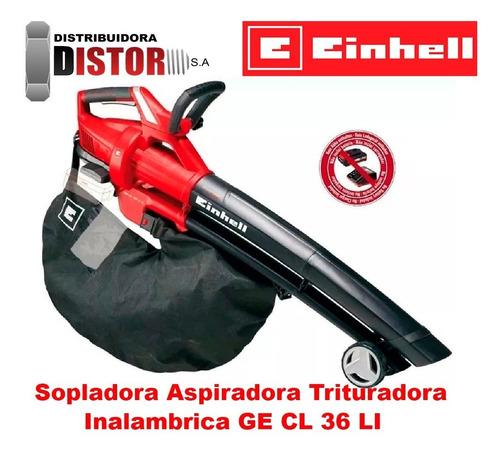 sopladora aspiradora triturador inalámbrica de hojas gecl36