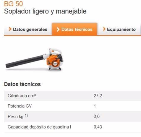 sopladora stihl bg 50 /nva original garantia 1año !!!!