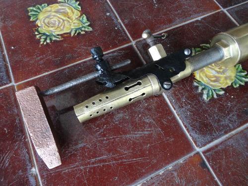soplete antiguo de bronce marca chybel industria argentina
