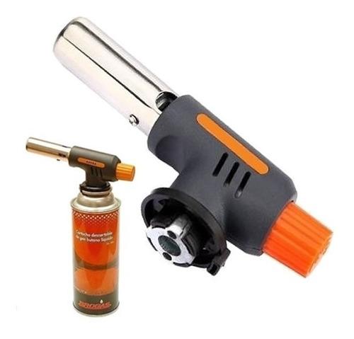 soplete flambeador soldador encendido electronico + cartucho
