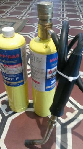 soplete para soldar a garrafa a gas propano