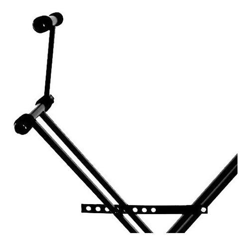 soporte 2 teclados mesa tijera pie doble plegable pro stands
