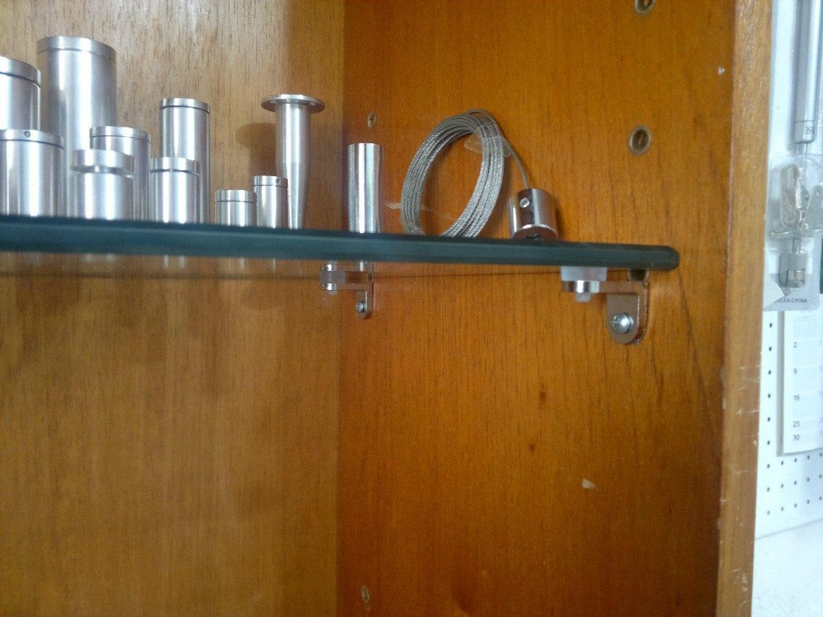 Soporte acrilico para repisas vidrio pared madera bs en mercado libre - Madera para paredes ...