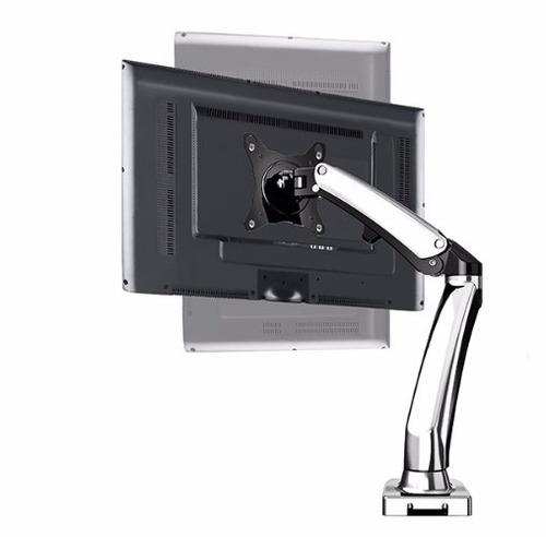 soporte aluminio/acero para monitor pantalla lcd escritorio