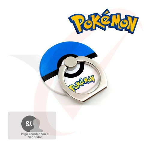 soporte anillo pokemon para telefonos tablets android iphone