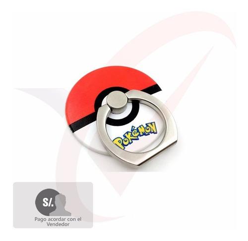 soporte anillo pokemon para telefonos tablets android iphone