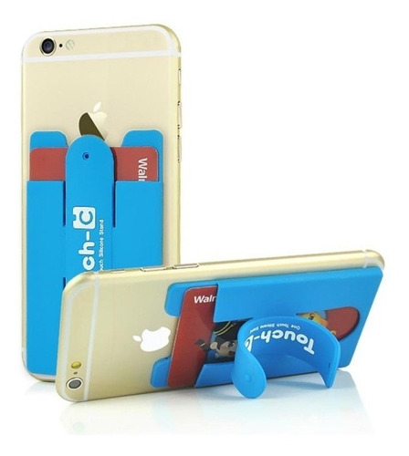 soporte apoya celular + porta sube tarjetas varios colores