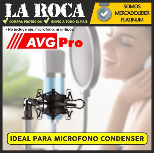 soporte araña para microfono condenser shockmount la roca