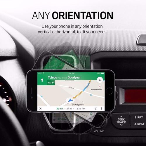 soporte arkon auto magnetico celular iphone x 8 7 6 plus se