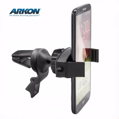 soporte arkon rejilla auto p/ iphone 8 7+ 6 galaxy s7 note