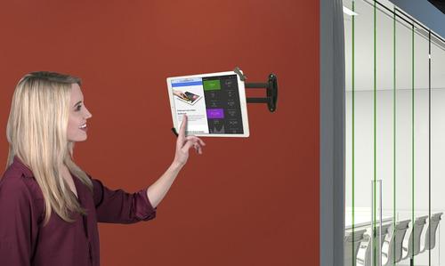 soporte articulado de seguridad para pared para tabletas.